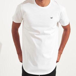Hollister Curved Hem T-Shirt Longline 4 Pack